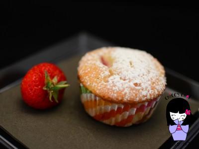 Muffin fragole e limone