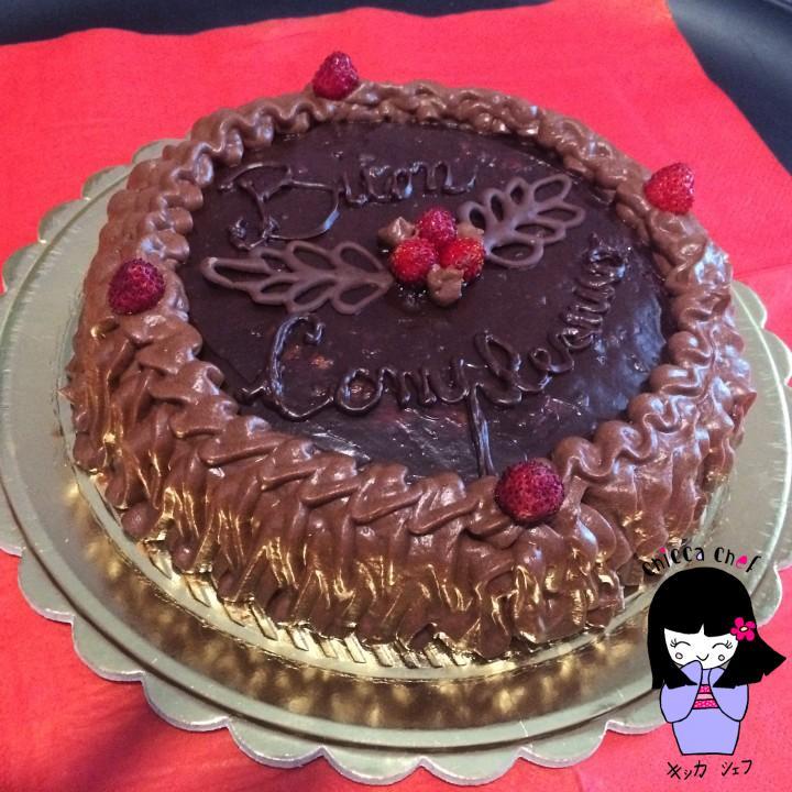 Torta ganache cioccolato